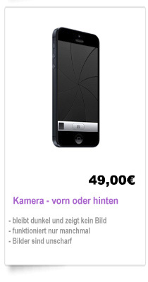 iPhone 5 Kamera Reparatur Berlin, reparieren Kamera iPhone 5