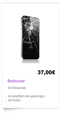 iPhone 4 Backcover Reparatur Berlin, Backcover wechseln Berlin
