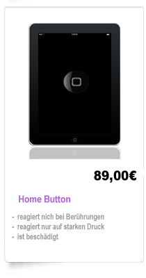 iPad 1,2,3 Reparatur Berlin Home Button