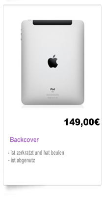 Backcover Reparatur Berlin iPad 1,2,3
