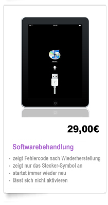 iPad 1,2,3 Reparatur Berlin Softwarebehandlung