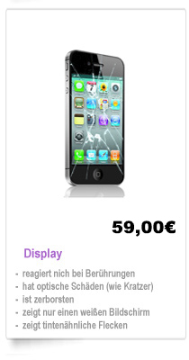 Display, Backover, Kamera iPhone Reparatur Berlin